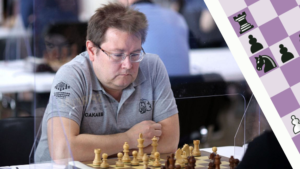 Сакаев на турнире по шахматам